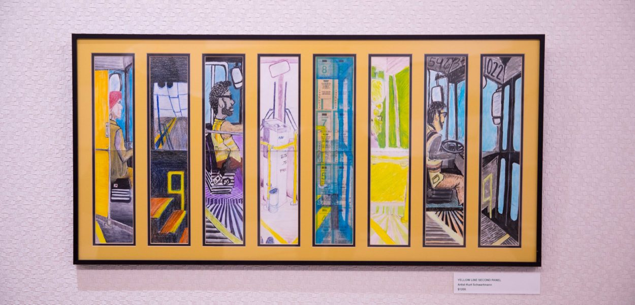 Yellow Line Second Panel by Kurt Schwartzmann
