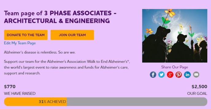 3 Phase Supports Alzheimers Walk