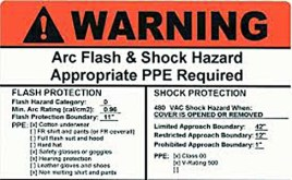 Arc Flash Label 2