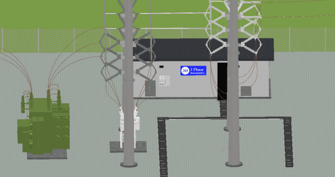 Substation 3D CAD Design