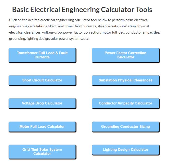 Basic-EE-Calculator-Tools