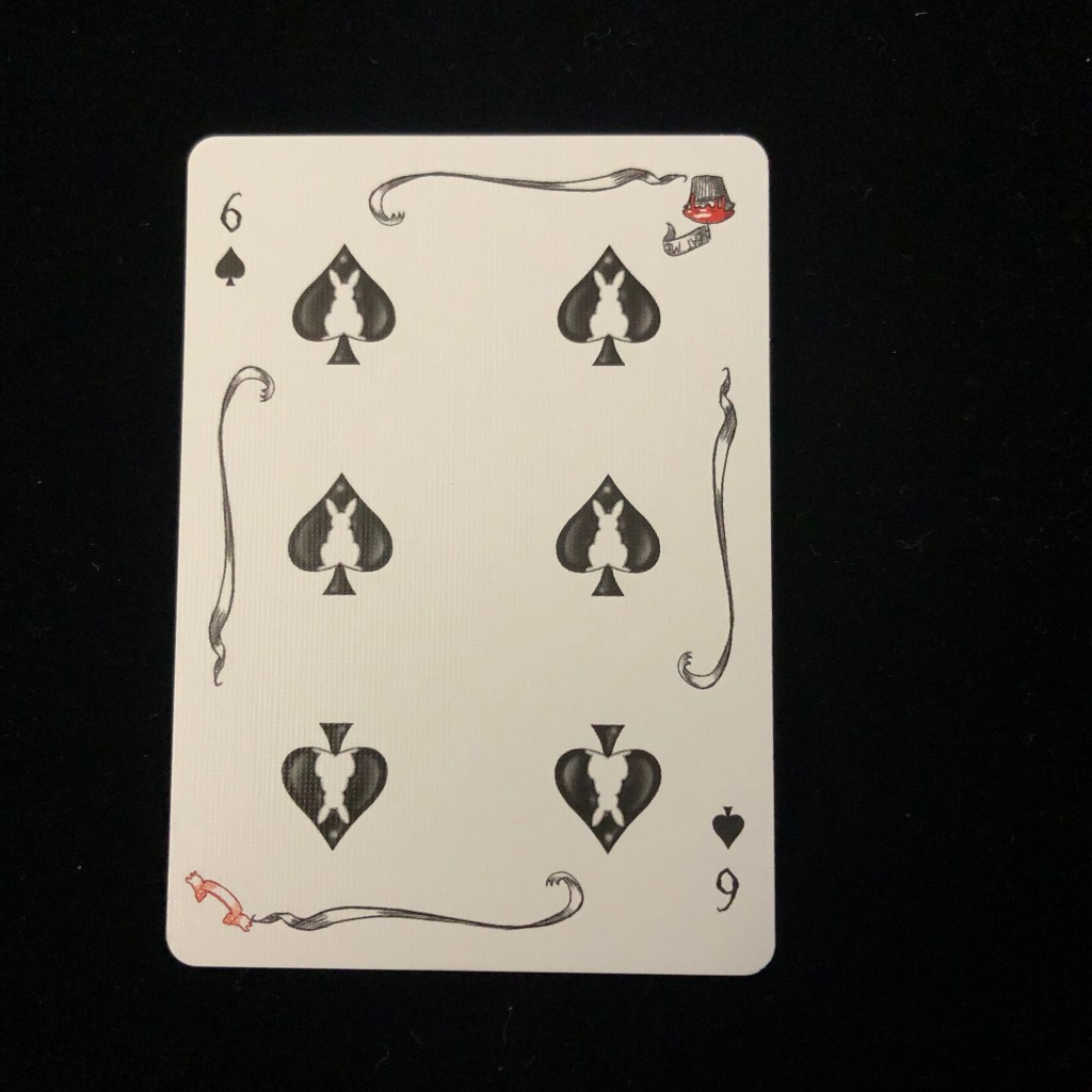 the white rabbit playing card deck
