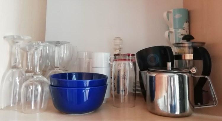 appartement, felletin, équipé de verres, assiettes tasses, etc.