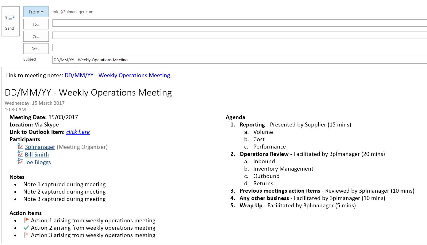 5 Habits for Effectively Managing Meetings with 3PL Service Providers