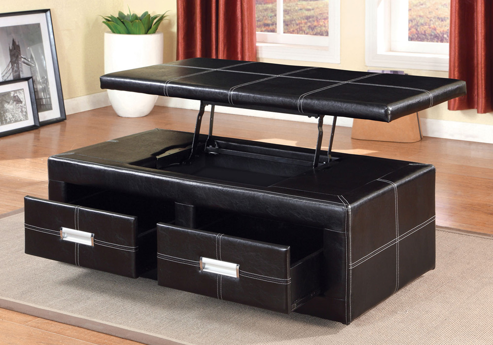 Storage Bench Ottoman Coffee Table
