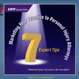 Marketing Your Practice To Personal Injury Attorneys 7