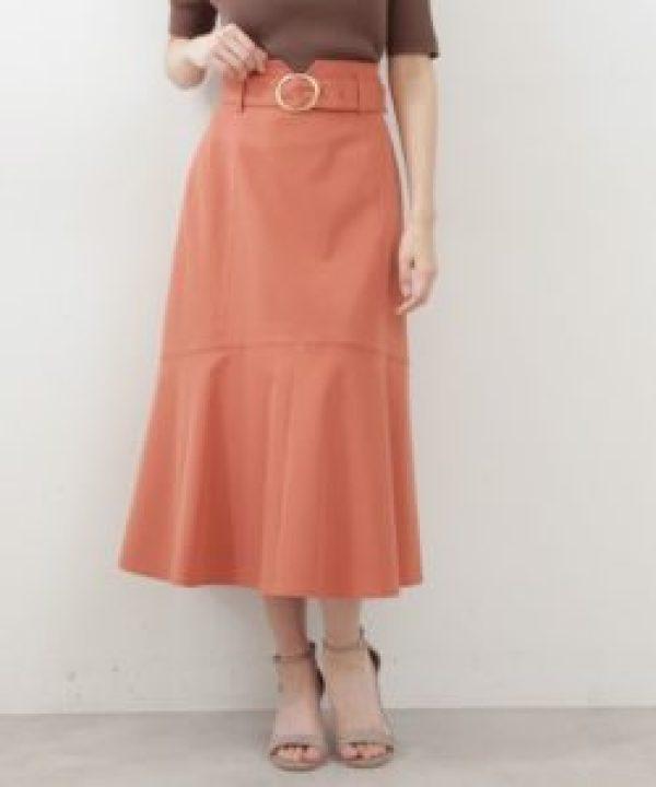 PROPORTION BODY DRESSING ツイルマーメードフレアスカート ピンク系