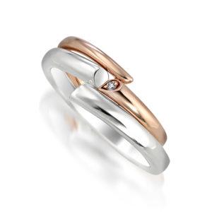 STAR JEWELRY(スタージュエリー)/SPIRAL HEART DIAMOND RING(K10)・SPIRAL HEART RING(SV925)