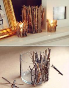 DIY Glass+Candle+sticks