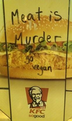 Meat is murder go vegan