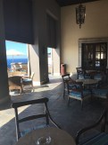 The lobby deck looking out