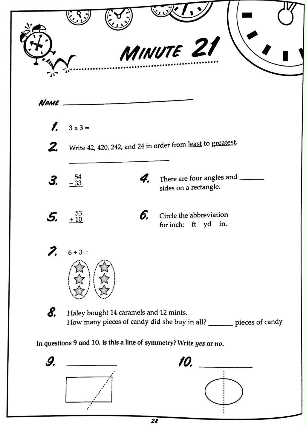 Worksheet Math Minute Grass Fedjp Worksheet Study Site