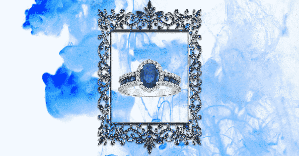 Fred Meyer Jewelers Blue Sapphire diamond ring 3rd party people graphic design