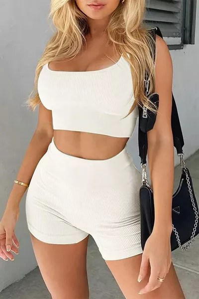 Two-piece Yoga Set in 2 colors white, black