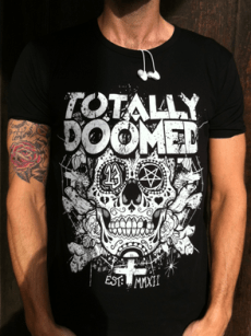 This is a design we printed for Totally Doomed, a shop recently opened in Manchester.