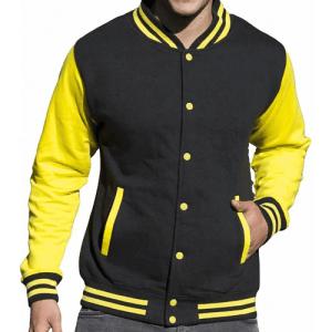 JH043 Awdis Unisex Contrast Varsity Jacket