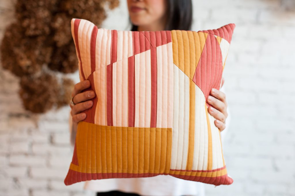 Improv Quilted pillow