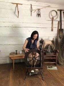 Andrea Tsang Jackson, Artist in Residence, Kings Landing, NB