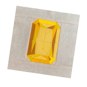 Rebecca Makas, Gemology block, Radiant cut from Patchwork Lab: Gemology