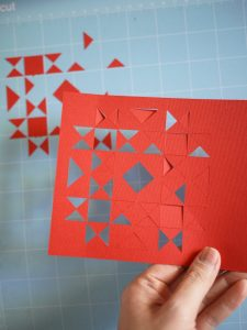 Vintage Quilt Block, Holiday Card, 3rd Story Workshop, Cricut Maker