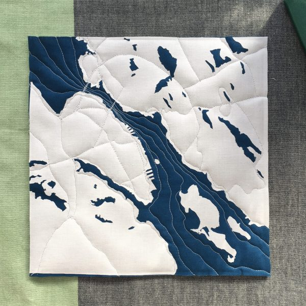 Quilted Map - 3rd Story Workshop - Andrea Tsang Jackson - Halifax Dartmouth Nova Scotia