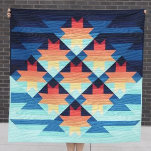 Sunset Quilt Pattern - Sunset Sawtooth - 3rd Story Workshop