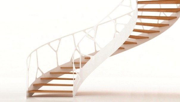 3Rings Eestairs 1M2 Spiral Staircase For Compact Living — 3Rings | Semi Spiral Staircase Design | Handrail | Inside | Semi Circular | Elegant | Residential Library