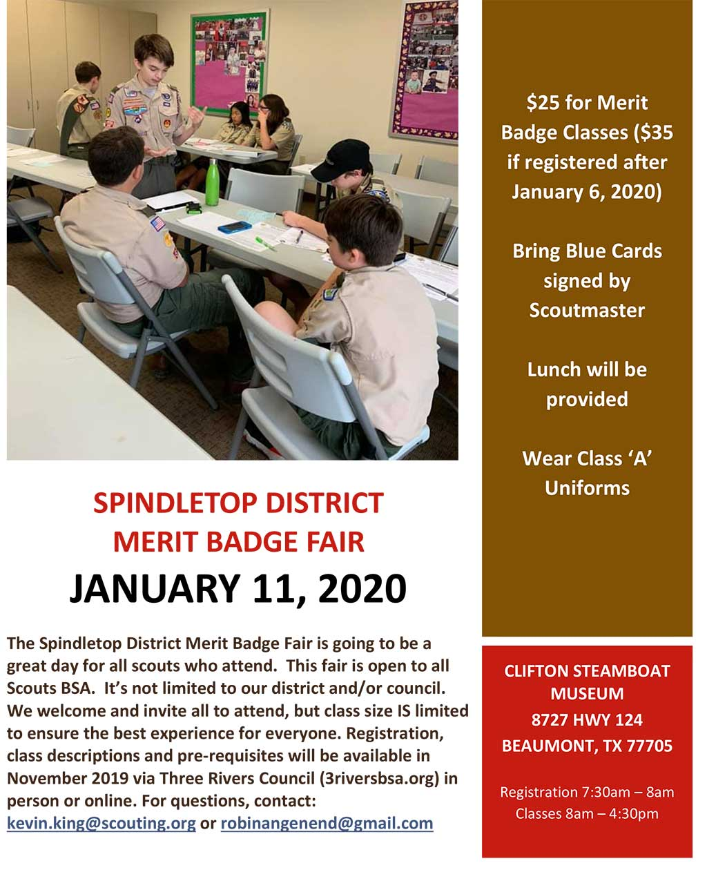 Spindletop District Merit Badge Fair – Three Rivers Council
