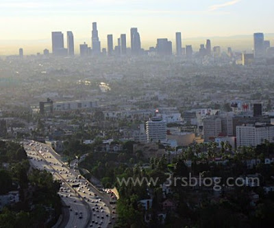 Not-quite-Wordless Weekend: Sunrise Over Los Angeles