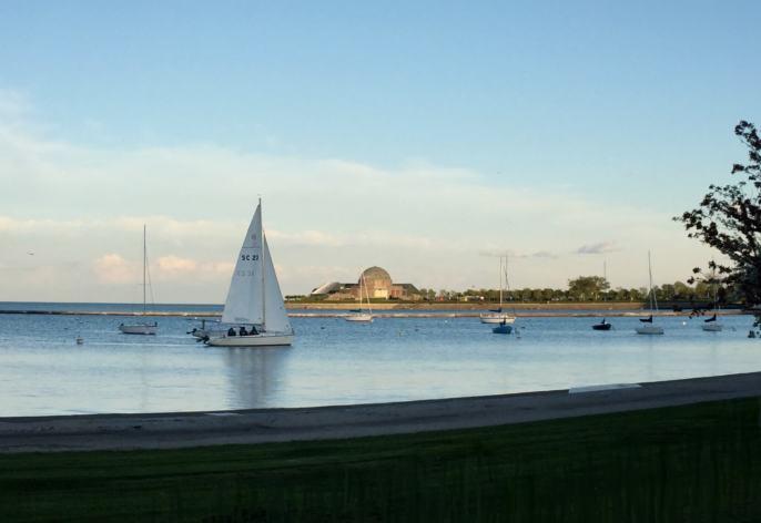 Setting sail on Lake Michigan