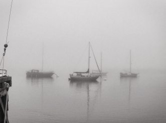 ghost boats in the fog