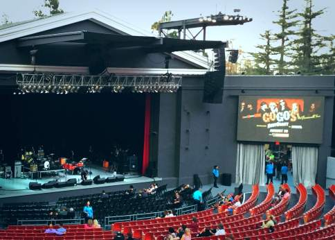 before the show, at the Greek Theatre