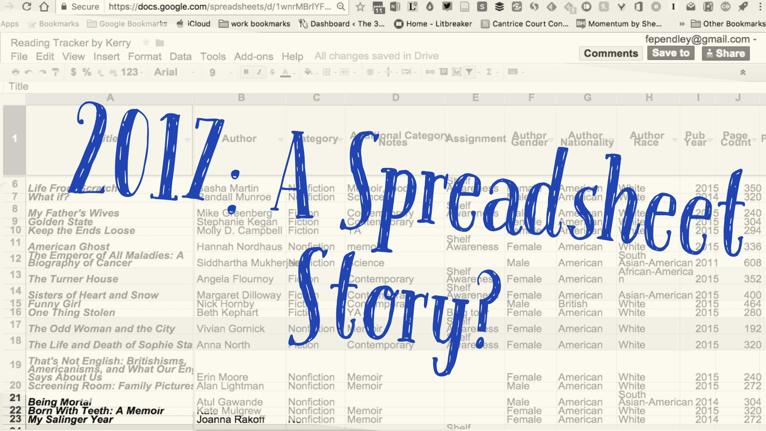2017: A Spreadsheet Story? Tell Me All Your Thoughts on Tracking Reading!
