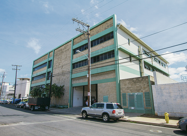 "DENNIS ODA / DODA@STARADVERTISER.COM                                 The city plans to use a four-story building at 431 Kuwili St. in Iwilei for permanent housing as well as a ""hygiene center"" for the homeless."