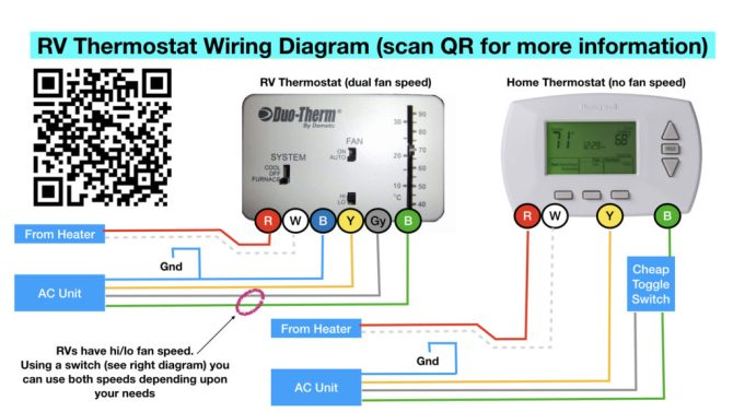 diagram dometic rv thermostat wiring diagram full version