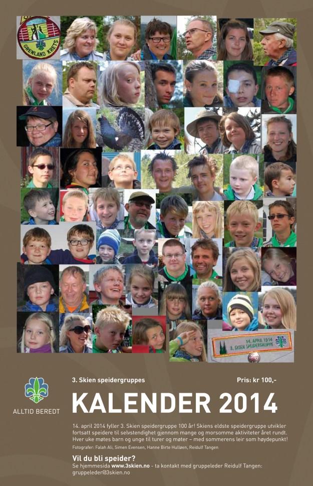 Forsida på Jubielumskalenderen 2014. Design: Hanne Birte Hulløen