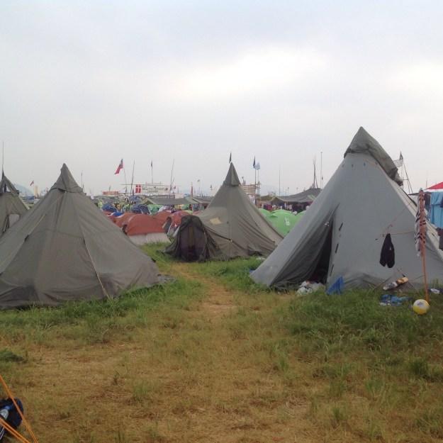 En norsk teltleir i Japan. Foto: Trond Engen