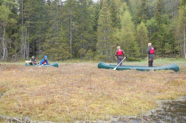 Kanotur med vannmangel. Foto: Hanne Birte Hulløen