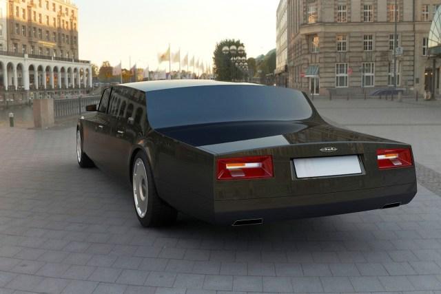 """السيارة الرئاسية الروسية الجديدة من نوع """"زيل ليموزين""""-لقطة خلفية"""