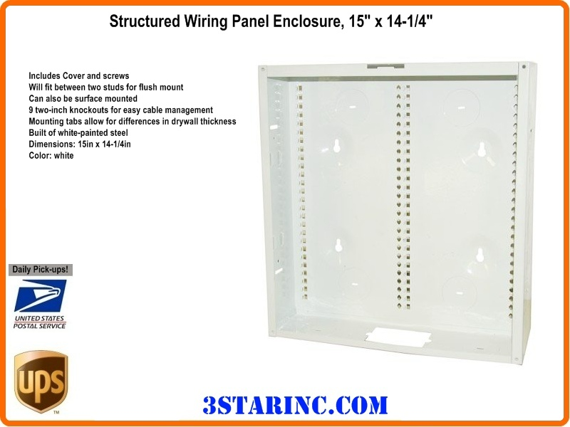 "15"" Structured Wiring Panel Wall Enclosure"