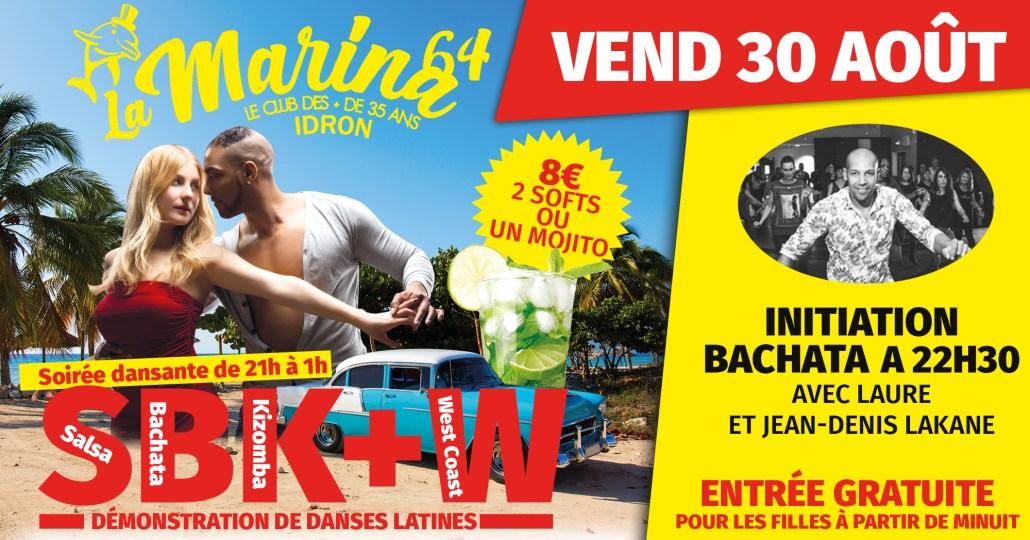Soirée SBK + W à la marina avec 3 step Laure et Jean-Denis