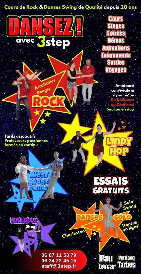 Présentation de l'association 3step et des cours de rock et de danse swing 2020/2021
