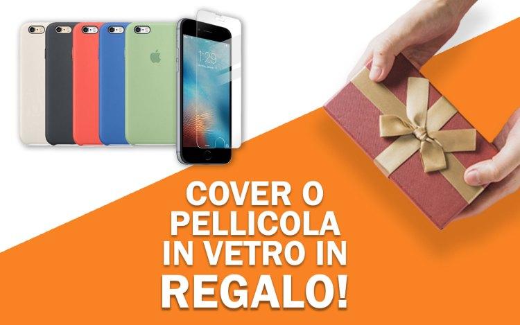 Cover o pellicola di vetro in regalo per iPhone 6S
