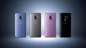 Samsung S9+ in diverse colorazioni