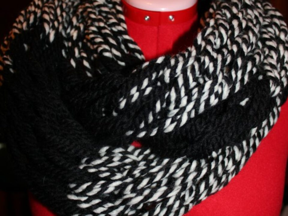 Arm Knitting Infinity Scarf