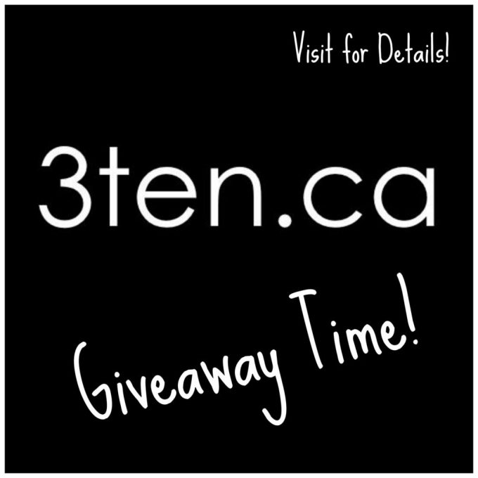 Giveaway: 3ten.ca #giveaway #contest #win #prize