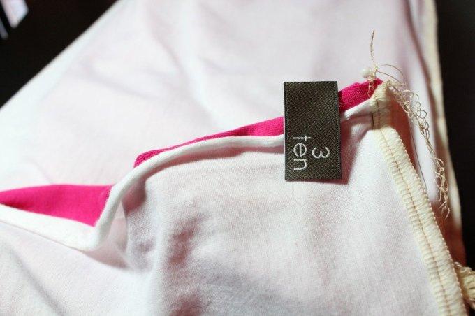 Colour Block Infinity Scarf: 3ten.ca #scarf #infinity #sewing #diy