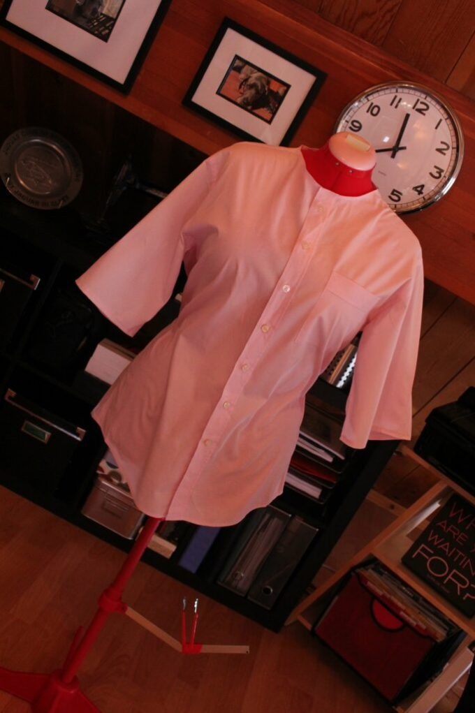 Mens dress shirt to a Trendy Tunic: 3ten.ca #diy #sewing #fashion #refashioned