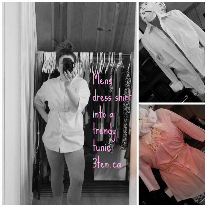 Mens dress shirt to a Trendy Tunic: 3ten.ca #diy #sewing #fashion #refashioned