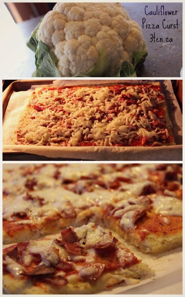 Cauliflower Pizza Crust: 3ten.ca #cauliflower #glutenfree #pizza